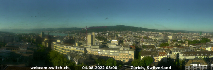SWITCH Webcam Panoramabild-Zürich
